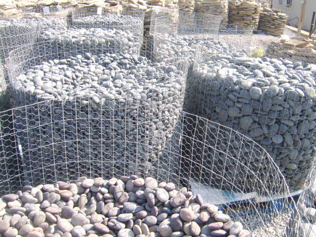 Nashville Pallets of Mexican River Beach Pebbles