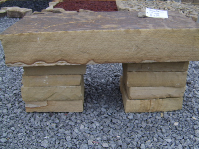 thick natural stone bench nashville area Nashville stone bench