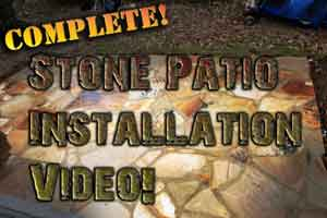 How to install a Flagstone patio Image to video