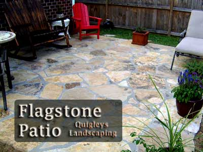 Nashville Flagstone Patio Photo, Natural stone patios increase property value.