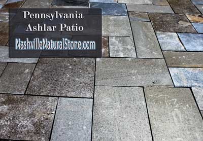 Nashville Stone Patio, Natural stone patios increase property value.